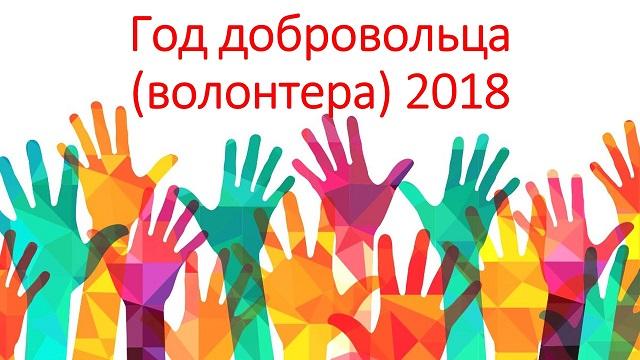 2018 - Год волонтёрства